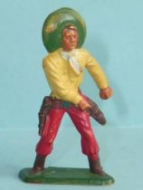 Starlux - Cow-Boys - Series 57 (Regular) - Footed Hand on gun (yellow & red) (ref 129)
