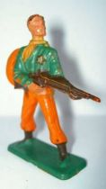 Starlux - Cow-Boys - Series 57 (Regular) - Footed Sheriff rifle on hip (orange & green) (ref 125)
