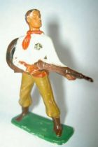 Starlux - Cow-Boys - Series 57 (Regular) - Footed Sheriff rifle on hip (yellow & light brown) (ref 125)