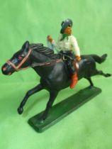 Starlux - Cow-Boys - Series 61 (Regular) - Mounted Lasso (cream & black) black horse (ref 418)