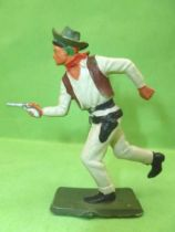 Starlux - Cow-Boys - Series 64 (Luxe Speciale) - Footed Running with gun (light grey) (ref 5131)