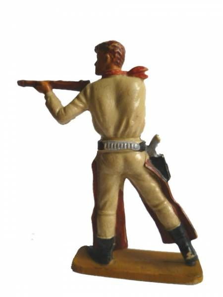 Starlux - Cow-Boys - Series 64 (Luxe Speciale) - Footed Standing firing rifle (dark brown & brown) (ref 5129)