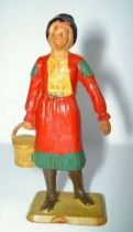 Starlux - Cow-Boys - Series 69 - Footed woman with bucket (red) (ref 5160 / )