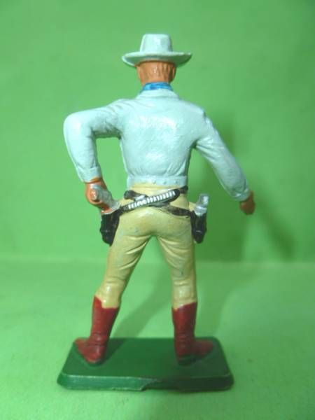 Starlux - Cow-Boys - Series 77 (regular) - Footed Drawing gun left hand (light blue & cream) (ref 129)