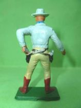 Starlux - Cow-Boys - Series 77 (regular) - Footed Drawing gun left hand (light blue & cream) (ref 129)