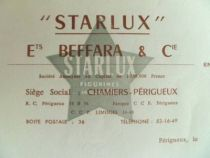 Starlux - Facture vierge Usine P�rigueux Ortf