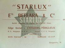 Starlux - Facture vierge Usine Périgueux Ortf