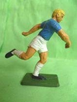 Starlux - Footballeur (bleu & blanc) - Courant s\'apprétant a tirer