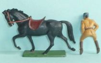 Starlux - French Cavalry - Series 63 - Officer trotting black horse (réf 401)