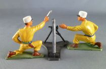 Starlux - French Legion - Series Luxe (Sand color) - Fighting mortar & servants (ref 5402 + 5086 + 5087)