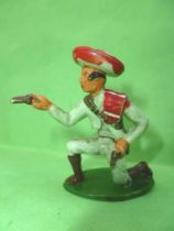 Starlux - Gauchos - Series 53 - Footed  Firing pistol kneeling (green) (ref 244)