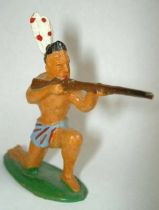Starlux - Incas Series 53 - Footed Firing rifle kneeling (blue - white feathers) (ref 182)