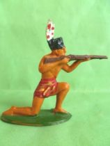 Starlux - Incas Series 53 - Footed Firing rifle kneeling (red - white feathers) (ref 182)