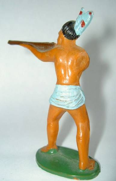 Starlux - Incas Series 53 - Footed Firing rifle standing (blue - blue feathers) (ref 181)