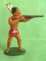 Starlux - Incas Series 53 - Footed Firing rifle standing (red - white feathers) (ref 181)