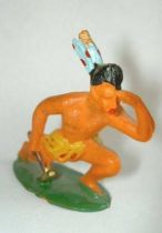 Starlux - Incas Series 53 - Footed Watcher kneeling (yellow - blue feathers) (ref 191)