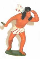 Starlux - Incas Series 53 - Footed Watcher with knife (white - white feathers) (ref 189)
