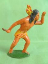 Starlux - Incas Series 53 - Footed Watcher with knife (yellow - yellow feathers) (ref 189)
