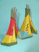 Starlux - Indian - Accessory Series Luxe61 - Couple of indians tents (ref 2840)