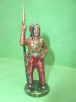 Starlux - Indians - Blanc de Meudon (Pre-war) - Footed standing spear on side