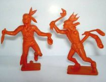 Starlux - Indians - Series Luxe 63 - Box of 2 unpainted mounteds & 2 unpainted footeds(ref XXXX)