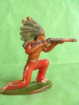 Starlux - Indians - Series Regular 53 - Footed Firing rifle kneeling (red) (ref 142)