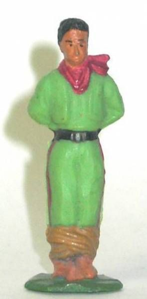 Starlux - Indians - Series Regular 53 - Footed Prisonner  (green black belt) (ref 203)