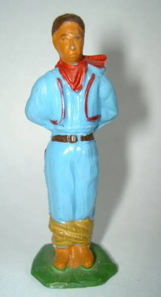 Starlux - Indians - Series Regular 53 - Footed Prisonner (blue brown belt) (ref 203)