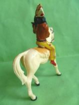 Starlux - Indians - Series Regular 53 - Mounted Firing rifle (yellow) white walking horse (ref 431)