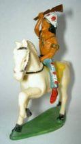 Starlux - Indians - Series Regular 53 - Mounted Raising rifle (blue) white walking horse (ref 432)