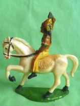 Starlux - Indians - Series Regular 53 - Mounted Raising rifle (yellow) white walking horse (ref 432)