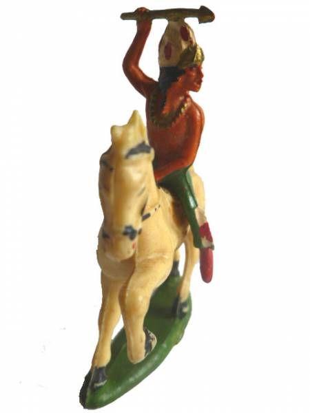 Starlux - Indians - Series Regular 53 - Mounted Spear (green) ivory walking horse (ref 436)