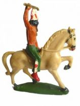 Starlux - Indians - Series Regular 53 - Mounted Spear (green) ivory walking horse (ref 436)