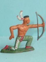 Starlux - Indians - Series Regular 57 - Footed Bowman kneeling (green) (ref 144)
