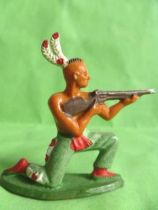 Starlux - Indians - Series Regular 57 - Footed Firing rifle kneeling (green) (ref 142)