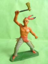 Starlux - Indians - Series Regular 57 - Footed with axe (grey) (ref 147)
