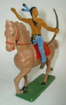 Starlux - Indians - Series Regular 65 - Mounted With bow (blue) light brown troting horse (ref 428)
