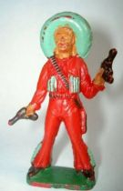 Starlux - Mexicans - Series 54 - Footed 2 pistols (red - green sombrero) (ref 250)