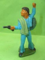 Starlux - Mexicans - Series 54 - Footed Firing pistol (blue) (ref 244)