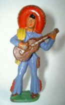 Starlux - Mexicans - Series 54 - Footed guitar (dark blue - yellow scarf) (ref 245)