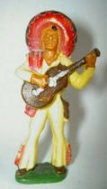 Starlux - Mexicans - Series 54 - Footed guitar (yellow - red scarf) (ref 245)
