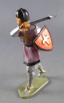 Starlux - Middle-age - serie 58 - ref  6009 (metalised base) - Footed crusader with hatchet