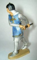 Starlux - Middle-age - serie 58 - ref  6010 (white base) - footed crusader decladding is sword (metalised blue)