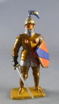 Starlux - Middle-age - serie 58 - ref  6012 (gold base) - Footed knight in armor