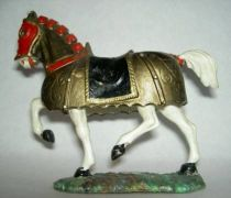 Starlux - Middle-age - serie 60 - ref 6109 - mounted with standart white walking horse with old gold carapaçon