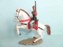 Starlux - middle-age - serie 64 - ref 6115 bis - mounted firing bow white rearing up horse