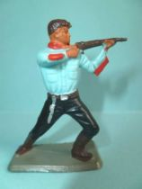 Starlux - Nestlé Kohler - Cow-Boys - Footed Firing rifle bent knees N° 137