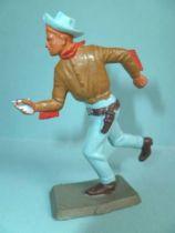 Starlux - Nestlé Kohler - Cow-Boys - Footed running firing pistol N° 135