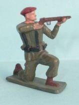 Starlux - Paratroopers - Serie Luxe - Firing rifle kneeling (khaki) (ref 5074)