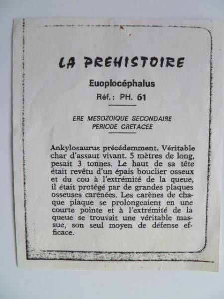 Starlux - Prehistory Notice - Euoplocephalus (ref PH61)